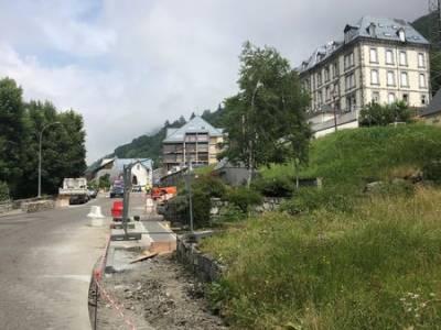 Création d'un trottoir le long de la départementale 918